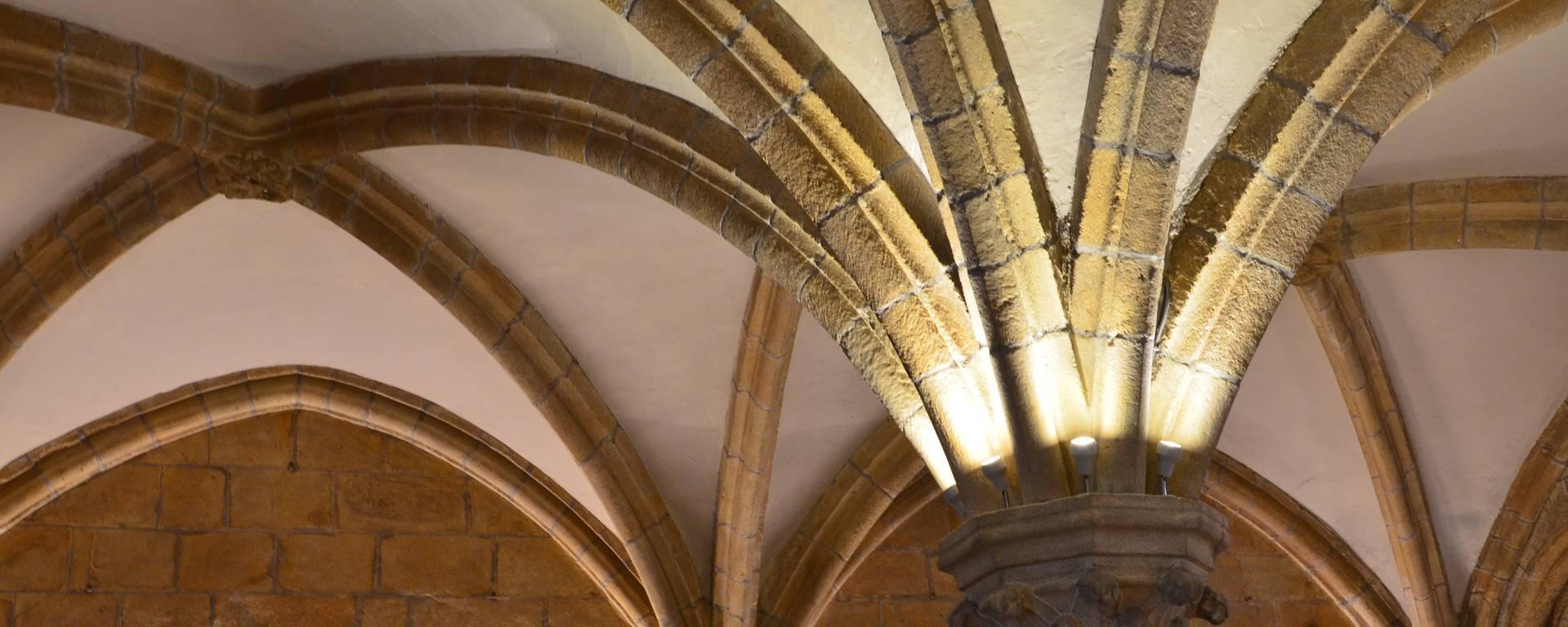 salle capitulaire de l'abbaye Notre Dame de l'abbaye de Langonnet