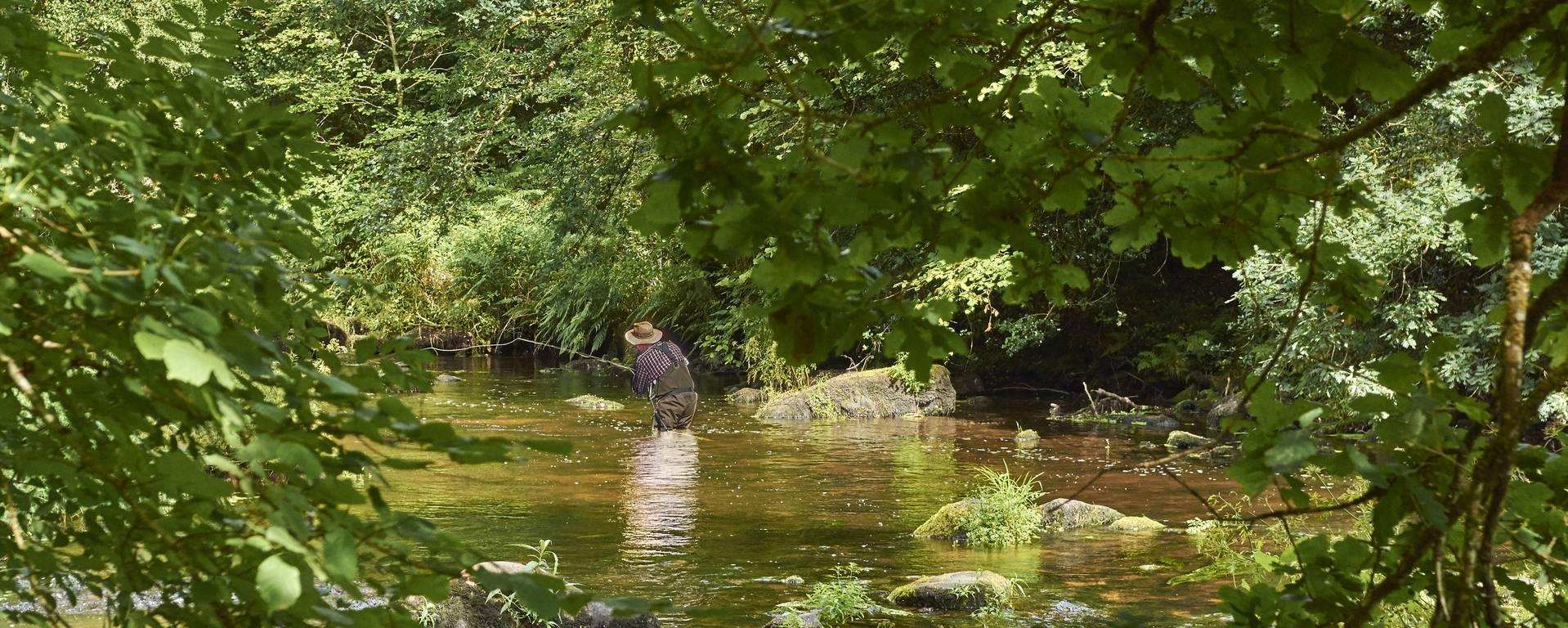 Pêche à la mouche en rivière du Scorff - © MA Gouret-Puillandre