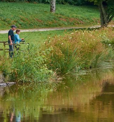 pêche en étang © MA Gouret-Puillandre