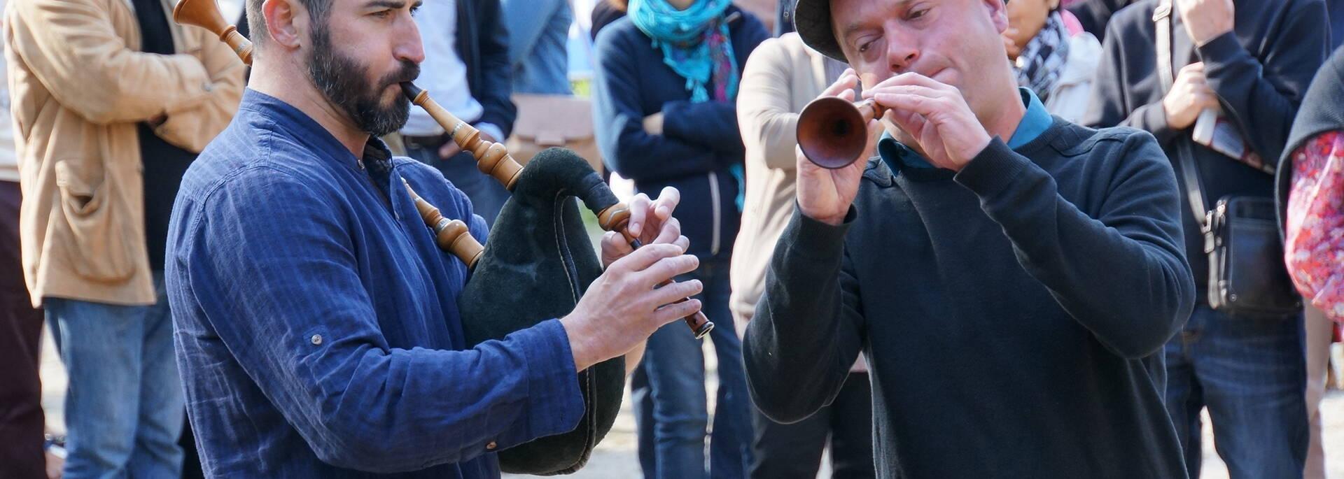 Sonneurs bretons à Gourin