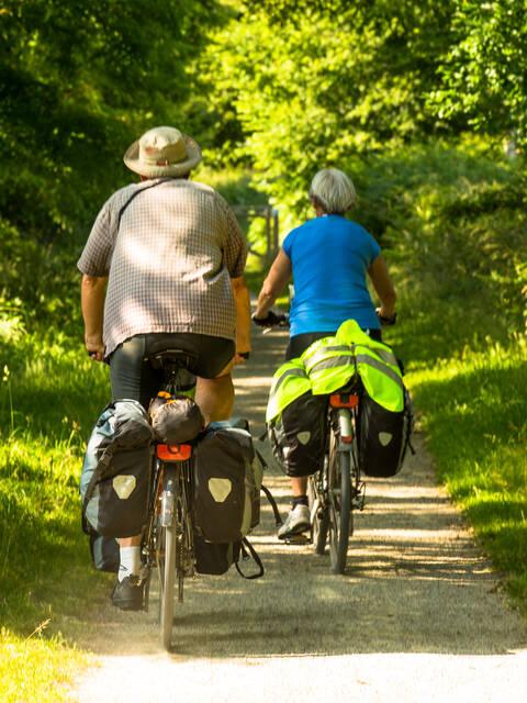 Camping car et vélo
