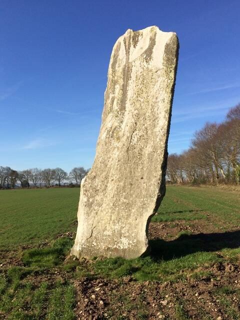 Grand menhir de Kerbiquet-Lann à Gourin