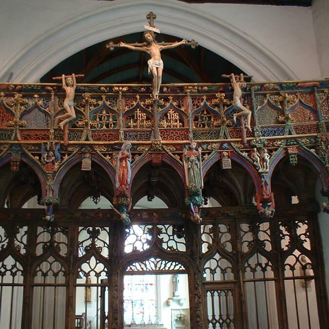 Jubé chapelle St Fiacre - Le Faouët - © Irène de Château-Thierry