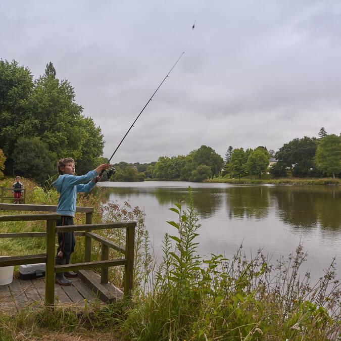Pêche en étang à Gourin © M-A Gouret-Puillandre