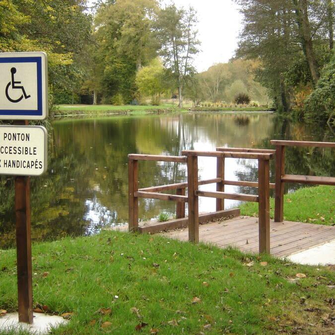 Poste handipêche - étang de Pont ar Lenn - Gourin