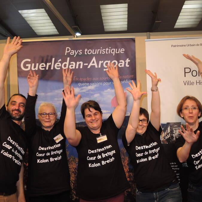 L'équipe de Kalon-Breizh au salon de la randonnée à Rennes !