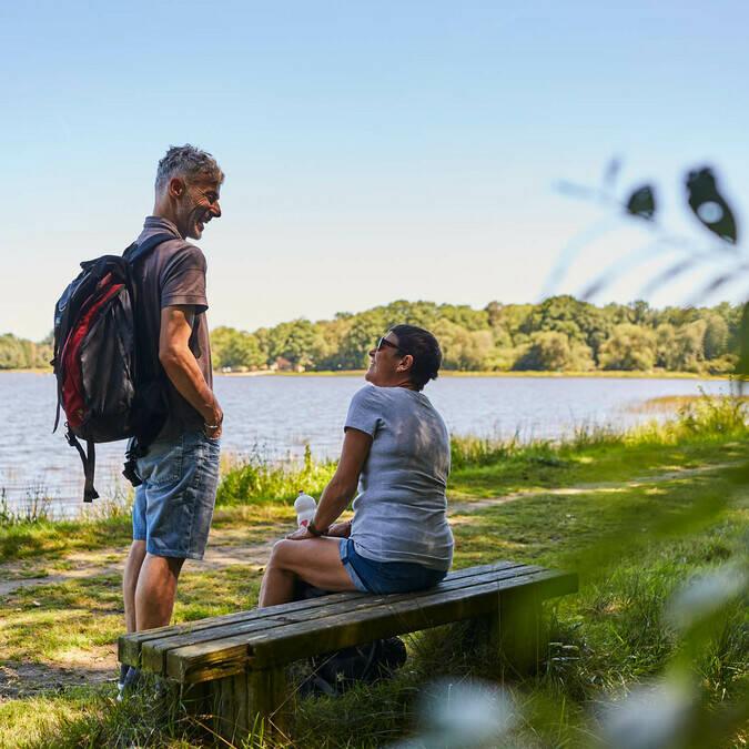 randonnée au bord du Lac de Priziac ©Alexandre Lamoureux